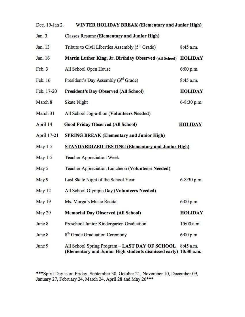 Carden Conservatory Calendar for 2016-2017 02